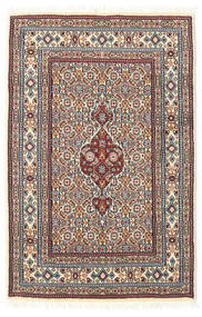 Moud Rug 58X88 Authentic  Oriental Handknotted Light Grey/Beige (Wool/Silk, Persia/Iran)