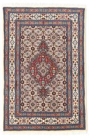 Moud Matto 60X89 Itämainen Käsinsolmittu Beige/Tummanharmaa (Villa/Silkki, Persia/Iran)