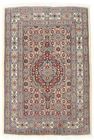 Moud Rug 61X89 Authentic Oriental Handknotted Light Brown/Beige (Wool/Silk, Persia/Iran)