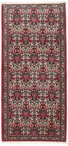 Abadeh Dywan 70X148 Orientalny Tkany Ręcznie Ciemnobrązowy/Beżowy (Wełna, Persja/Iran)
