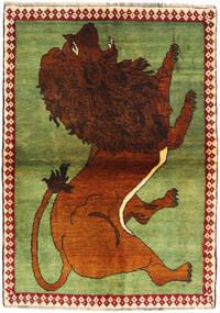 Ghashghai Matto 105X150 Itämainen Käsinsolmittu Tummanruskea/Oliivinvihreä (Villa, Persia/Iran)
