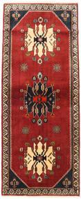 Qashqai Szőnyeg 86X214 Keleti Csomózású Sötétpiros/Rozsdaszín (Gyapjú, Perzsia/Irán)