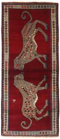 Ghashghai Teppich  82X201 Echter Orientalischer Handgeknüpfter Läufer Dunkelrot/Braun (Wolle, Persien/Iran)