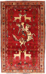 Qashqai Rug 121X198 Authentic  Oriental Handknotted Rust Red/Dark Red (Wool, Persia/Iran)