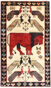 Ghashghai Teppich  102X145 Echter Orientalischer Handgeknüpfter Beige/Dunkelblau (Wolle, Persien/Iran)