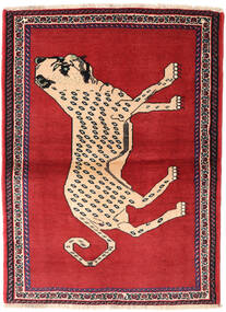 Qashqai Rug 107X146 Authentic  Oriental Handknotted Rust Red/Crimson Red (Wool, Persia/Iran)