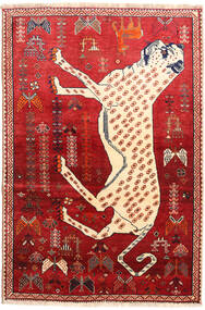 Qashqai Rug 118X176 Authentic  Oriental Handknotted Rust Red/Beige (Wool, Persia/Iran)