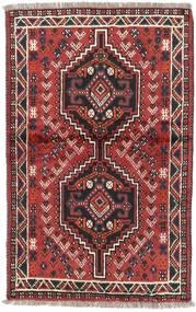 Shiraz Alfombra 82X126 Oriental Hecha A Mano Rojo Oscuro/Negro (Lana, Persia/Irán)