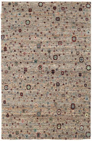 Gabbeh Loribaft Rug 138X197 Authentic  Modern Handknotted Light Grey/Dark Brown (Wool, India)