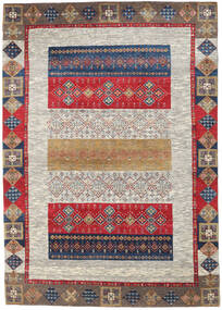 Gabbeh Loribaft Rug 172X247 Authentic Modern Handknotted Light Grey/Dark Red (Wool, India)