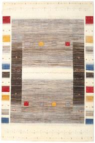 Gabbeh Loribaft Teppich 201X306 Echter Moderner Handgeknüpfter Beige/Hellgrau (Wolle, Indien)