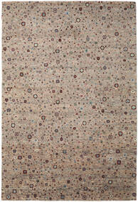 Gabbeh Loribaft Rug 198X300 Authentic  Modern Handknotted Light Grey/Brown (Wool, India)