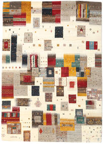 Gabbeh Loribaft Tapis 169X239 Moderne Fait Main Beige/Gris Clair (Laine, Inde)