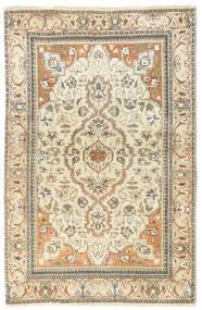 Tabriz Patina Teppe 90X140 Ekte Orientalsk Håndknyttet Beige/Lysbrun (Ull, Persia/Iran)