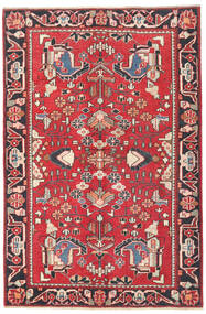 Bakhtiari Patina Rug 125X190 Authentic  Oriental Handknotted Crimson Red/Light Pink (Wool, Persia/Iran)