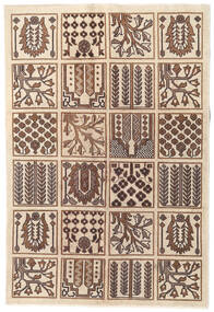 Tebriz Patina Dywan 120X175 Orientalny Tkany Ręcznie Jasnobrązowy/Brązowy/Beżowy (Wełna, Persja/Iran)