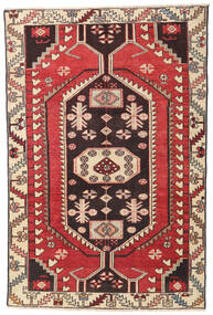 Hamadan Patina Dywan 112X170 Orientalny Tkany Ręcznie Beżowy/Rdzawy/Czerwony (Wełna, Persja/Iran)