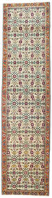 Tabriz Patina Rug 83X327 Authentic  Oriental Handknotted Hallway Runner  Dark Brown/Light Grey (Wool, Persia/Iran)
