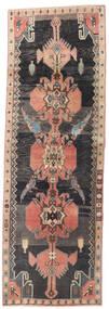 Ardabil Patina Tapis 85X250 D'orient Fait Main Tapis Couloir Noir/Marron Clair (Laine, Perse/Iran)
