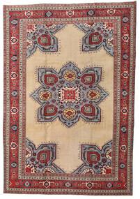 Ardebil Patina Teppich 227X330 Echter Orientalischer Handgeknüpfter Hellbraun/Dunkel Beige (Wolle, Persien/Iran)