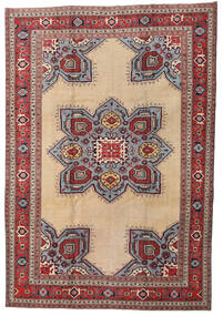 Ardebil Patina Vloerkleed 227X330 Echt Oosters Handgeknoopt Donkerrood/Beige (Wol, Perzië/Iran)