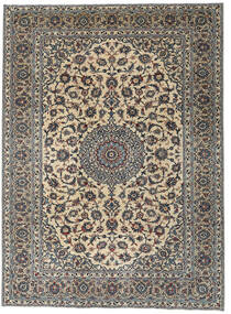 Yazd Patina Teppich 275X337 Echter Orientalischer Handgeknüpfter Dunkelgrau/Hellbraun Großer (Wolle, Persien/Iran)