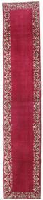 Tebriz Patina Dywan 75X395 Orientalny Tkany Ręcznie Chodnik Ciemnoczerwony/Czerwony (Wełna, Persja/Iran)