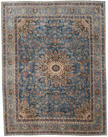 Mashad Patina Rug 295X380 Authentic  Oriental Handknotted Dark Grey/Light Brown Large (Wool, Persia/Iran)