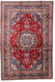 Mashad Rug 200X300 Authentic  Oriental Handknotted Crimson Red/Dark Purple (Wool, Persia/Iran)