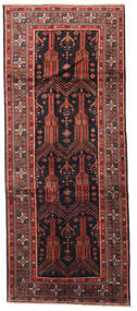 Baluch Rug 125X305 Authentic  Oriental Handknotted Hallway Runner  Dark Red/Black (Wool, Persia/Iran)