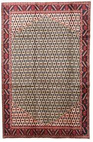 하마단 러그 197X300 정품  오리엔탈 수제 라이트 브라운/다크 퍼플 (울, 페르시아/이란)