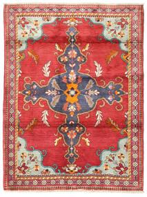 Heriz Dywan 115X160 Orientalny Tkany Ręcznie Pomarańczowy/Ciemnobeżowy (Wełna, Persja/Iran)