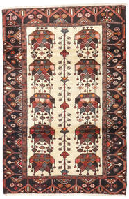 Saveh Rug 112X167 Authentic Oriental Handknotted Dark Brown/Brown/Beige (Wool, Persia/Iran)