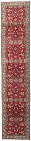 Tabriz Koberec 82X395 Orientální Ručně Tkaný Běhoun Béžová/Tmavě Červená (Vlna, Persie/Írán)