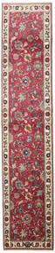 Tabriz Koberec 83X395 Orientální Ručně Tkaný Běhoun Světle Šedá/Béžová (Vlna, Persie/Írán)