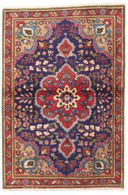 Tabriz Matta 100X145 Äkta Orientalisk Handknuten Mörklila/Brun (Ull, Persien/Iran)