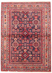 Lillian Teppe 112X155 Ekte Orientalsk Håndknyttet Mørk Lilla/Rust (Ull, Persia/Iran)