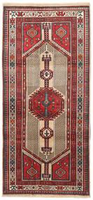 Sarab Tapete 95X207 Oriental Feito A Mão Castanho Escuro/Bege (Lã, Pérsia/Irão)