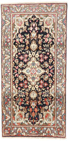 Kerman Alfombra 95X190 Oriental Hecha A Mano Marrón Claro/Beige (Lana, Persia/Irán)