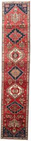 Sarab Matta 82X403 Äkta Orientalisk Handknuten Hallmatta Brun/Mörkröd (Ull, Persien/Iran)