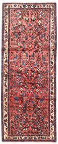 Rudbar Vloerkleed 85X214 Echt Oosters Handgeknoopt Tapijtloper Donkerrood/Donkerbruin (Wol, Perzië/Iran)