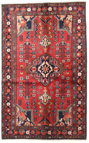 Jozan Teppe 125X205 Ekte Orientalsk Håndknyttet Mørk Lilla/Mørk Rød (Ull, Persia/Iran)