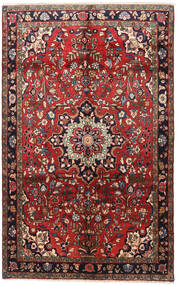 Hamadan Rug 160X258 Authentic  Oriental Handknotted Dark Red/Brown (Wool, Persia/Iran)