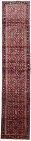 Hosseinabad Koberec 85X410 Orientální Ručně Tkaný Běhoun Tmavě Červená/Tmavě Hnědá (Vlna, Persie/Írán)