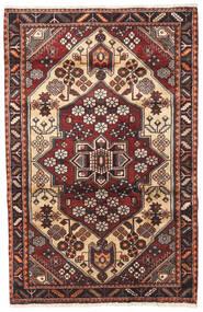 Saveh Teppich 110X170 Echter Orientalischer Handgeknüpfter Beige/Dunkelbraun (Wolle, Persien/Iran)