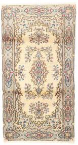 Kerman Alfombra 95X175 Oriental Hecha A Mano Beige/Blanco/Crema (Lana, Persia/Irán)