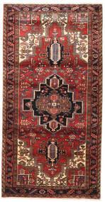 Heriz Vloerkleed 117X230 Echt Oosters Handgeknoopt Donkerrood/Bruin (Wol, Perzië/Iran)