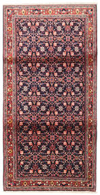 Lillian Rug 110X210 Authentic  Oriental Handknotted Dark Purple/Light Pink (Wool, Persia/Iran)