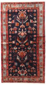 Hamadan Matto 120X215 Itämainen Käsinsolmittu Tummanpunainen/Musta (Villa, Persia/Iran)