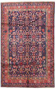 Lillian Matta 155X250 Äkta Orientalisk Handknuten Mörklila/Roströd (Ull, Persien/Iran)